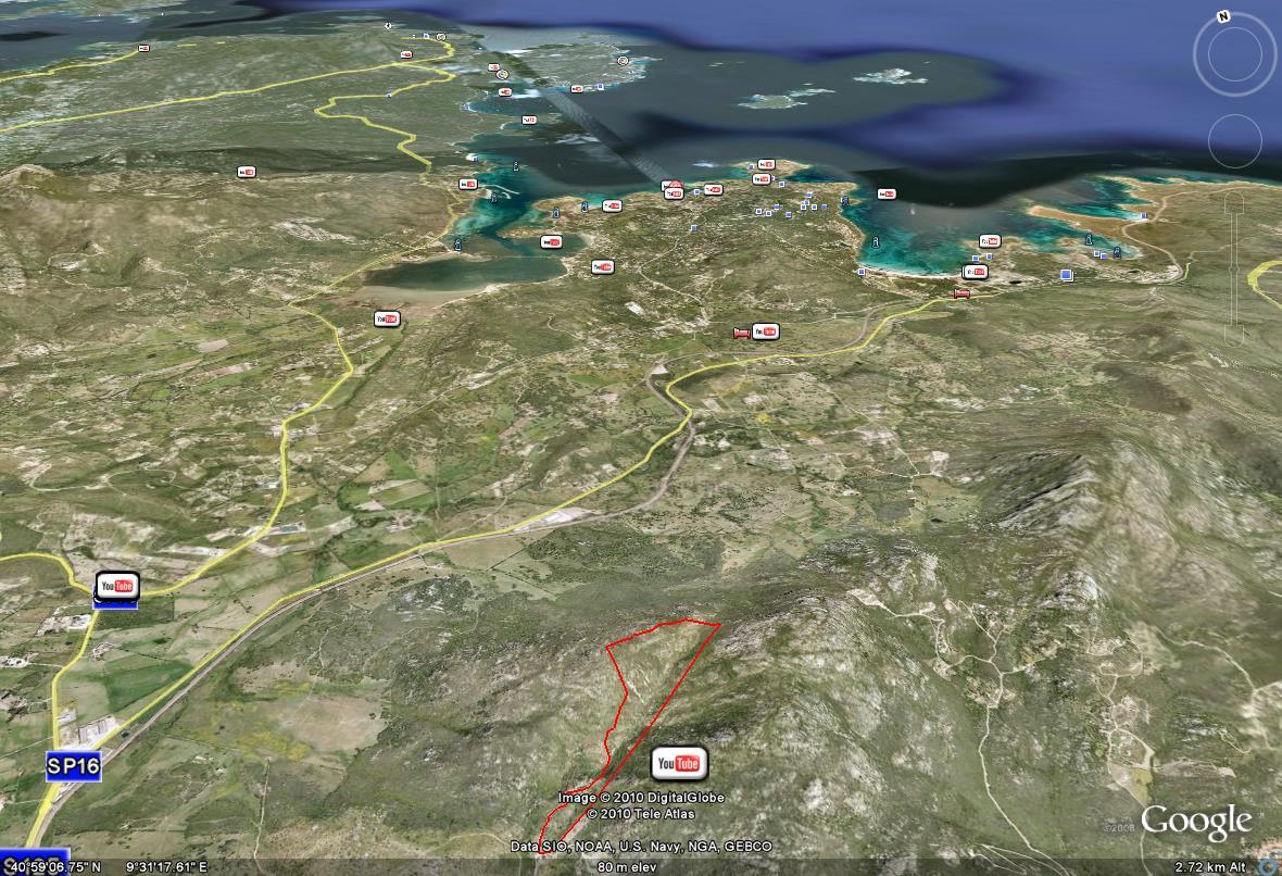 lotto 3 ettari periferia olbia, progetto incluso