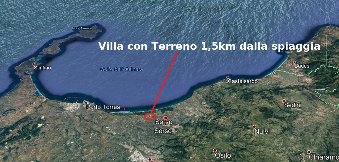 Villa 160mq con 6300mq di terreno a 1 5 km dal mare sorso - Annunci immobiliari sorso ...